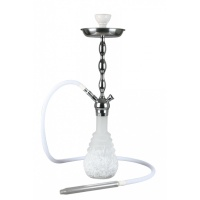 PNX-660 KAYA Shisha FROSTED WHITE NEST LED CHROME