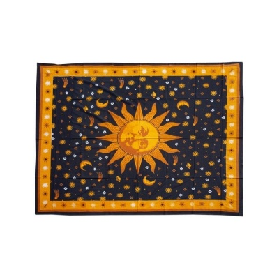 Tagesdecke Batik - Sun and Night